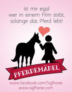 Ist mir egal wer in einem Film stirbt, solange das Pferd lebt.  Pferdemädel - Pferde Humor