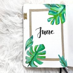 36 Pretty June Monthly Cover Page Ideas for Your Bullet Journal Obsession - The . - 36 Pretty June Monthly Cover Page Ideas for Your Bullet Journal Obsession – The Thrifty Kiwi - Bullet Journal School, Bullet Journal June, Bullet Journal Cover Ideas, Bullet Journal Notebook, Bullet Journal Spread, Bullet Journal Inspiration, Journal Pages, Journal Covers, Junk Journal