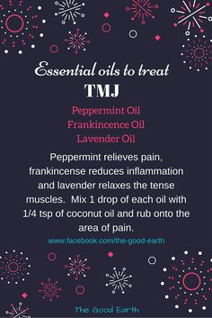 Essential Oils to Treat TMJ