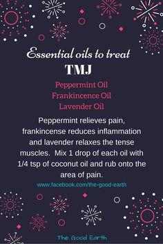 Essential Oils to Treat TMJ
