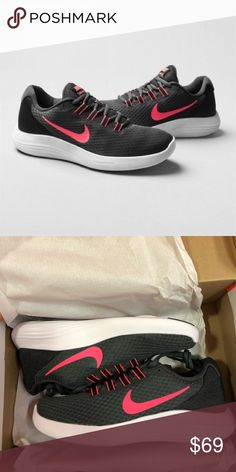 5ac438e41ca Shop Women s Nike Black Pink size Various Athletic Shoes at a discounted  price at Poshmark. Description   Brand New  Nike Lunarconverge Trainers  Pink.