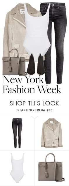 """""""Untitled #3189"""" by elenaday ❤ liked on Polyvore featuring H&M, Acne Studios, Eres and Yves Saint Laurent"""