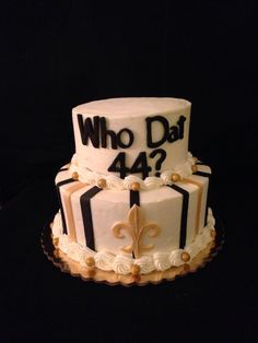 New Orleans Saints Who Dat Cake By Sweet Es Cakery Facebook