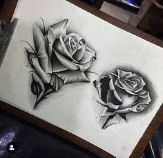 Possible tattoo for 2020 Rose Drawing Tattoo, Dark Art Tattoo, Flower Tattoo Drawings, Tattoo Design Drawings, Tattoo Sketches, Clock Tattoo Design, Floral Tattoo Design, Flower Tattoo Designs, Rose Flower Tattoos
