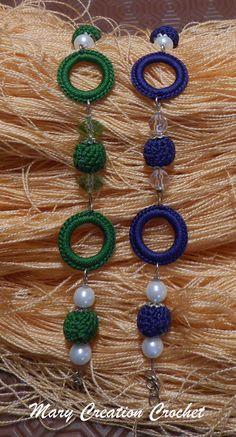 Braccialetto cerchietti all'uncinetto alternati con perline all'uncinetto e perline acriliche di MaryCreationCrochet su Etsy