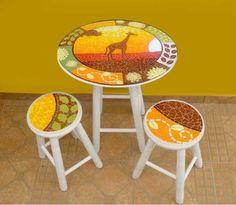 Conjunto de Mesa em Mosaico, África
