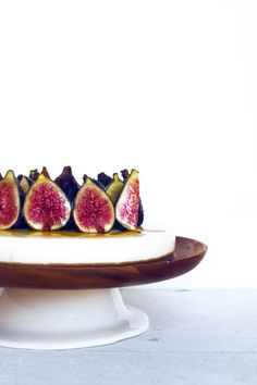 have to remember this once the fig tree starts producing again- fig cheesecake #glutenfree