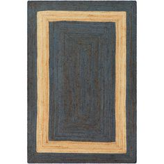 Buy the Surya Blue Direct. Shop for the Surya Blue Brice x Rectangle Natural Fibers Hand Woven Natural Fibers Area Rug and save. Jute Rug, Woven Rug, Thing 1, Rug Shapes, Modern Area Rugs, Rug Making, Hand Weaving, Dark Blue, Blue Brown