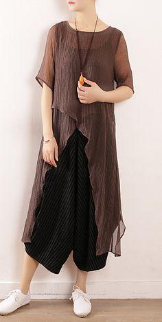 Nouvelles femmes d/'été manches longues broderie florale Design khadar Kurta Top Robe