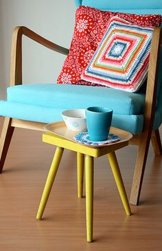 Love the chair, colors, everything.