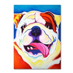 DawgArt 'Bully Grin' Canvas Art