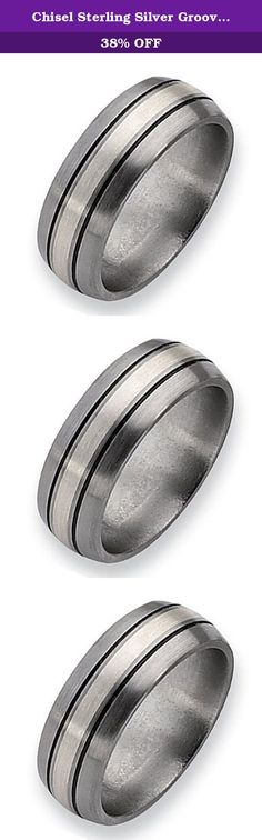 Chisel Sterling Silver Grooved Brushed and Antiqued Titanium Ring (8.0 mm) - Size 13.0. This Chisel Titanium Ring comes complete with a Lifetime Warranty. The warranty applies should you ever need a new size only of the same style. A deductible of 30% of original purchase price plus shipping charges applies for refurbishing costs. Should the ring no longer be sold the warranty will apply to similarly priced styles. Titanium jewelry will show scratches and this is not considered a...