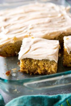 This is absolutely the best banana cake I've ever had! It's supremely moist with cream cheese frosting, tons of banana, brown sugar, and cinnamon flavor. Recipe on sallysbakingaddiction.com