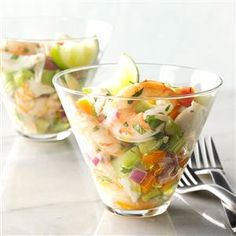 Garden Fresh Seafood Cocktail Recipe -For something cool on a hot day, we mix shrimp and crabmeat with crunchy veggies straight from the garden. Look for adobo seasoning in your grocery's international section. —Teri Rasey, Cadillac, Michigan