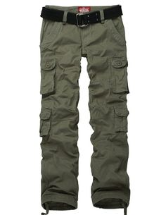 Match Women's Slim Fit Cargo Pants Outdoor Camping N' Hiking (US size 4 (Asian tag L/29), 2032 Army green)