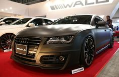 A customized Audi A7 Sportback is displayed at the Tokyo Auto Salon 2014 at Maku