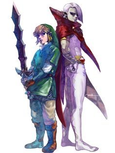 Legend of Zelda - Ghirahim x Link - Ghiralink Skyward Sword Link, Zelda Skyward, Link Zelda, The Legend Of Zelda, Legend Of Zelda Characters, Pokemon, Hyrule Warriors, Twilight Princess, Princess Zelda