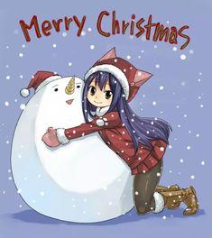Hiro Mashima   Merry Christmas   Wendy   Plue snowball