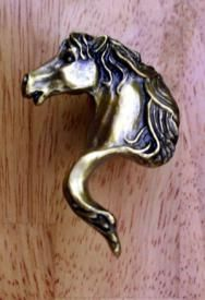 Gayle Bright Decorative Cabinet Knob Horse Head Knob Right From Cabinet  Knobs And More