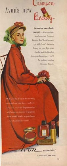 vintage avon ads | Beauty and Hygiene Ads of the 1940s