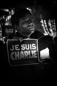 """Je suis Charlie -  """"I am Charlie"""", street protest in Strasbourg. #JeSuisCharlie"""