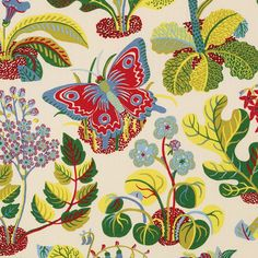 Amazing multi home fabric by F Schumacher. Item 176181. Huge savings on F Schumacher products. Free shipping! Only first quality. Over 100,000 designer patterns. Width 54 1/2 . Swatches available.