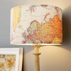 I Love Handmade: Handmade Vintage Map Lampshade by Rosie's Vintage Lampshades