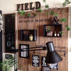 Interior illustrations, such as On Walls / Coucou / 100 medium / DIY / Ceria / Children& room . Diy Home Decor, Room Decor, Diy Hanging Shelves, Brick And Wood, Pipe Furniture, Diy Wall, Decoration, Farmhouse Decor, Kitchen Decor
