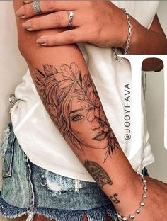 sleeve tattoos for girls and sleeves tattoo _ sleeve tattoos for girls _ sleeve tattoos for guys _ sleeve tattoos for girls distinctive. Dope Tattoos For Women, Arm Sleeve Tattoos For Women, Unique Half Sleeve Tattoos, Girl Arm Tattoos, Tattoo Designs For Women, Unique Tattoos, Love Tattoos, Body Art Tattoos, Feminine Tattoo Sleeves