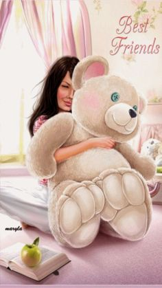 E Animated Gif ❤️ Best Friends hug. Gif Pictures, Moving Pictures, Animation, Friends Forever, Best Friends, Bear Gif, Cute Bear, Glitter Graphics, Tatty Teddy