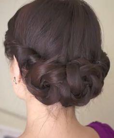 Braided Updo Hairstyle for Long Hair: The Spring Braided Flower Hair Tutorial - Cute Girls Hairstyles