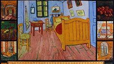 23″ X 44″ Panel Vincent Van Gogh Paintings Bedroom in Arles Art Artists Impressionism Oil Painting-Look Digital Print Cotton Fabric Panel (D761.30) Vincent Van Gogh, Bedroom In Arles, Canvas Wall Art, Wall Art Prints, Buildings Artwork, Van Gogh Museum, Van Gogh Paintings, Art Institute Of Chicago, Oil Painting Abstract