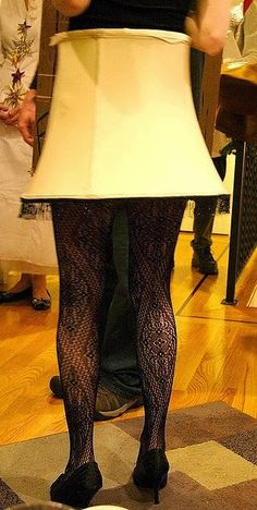 Leg Lamp costume from A Christmas Story // YES! Once I saw a woman with LED lights under the shade and a portable battery pack. Brilliant! (puns!)