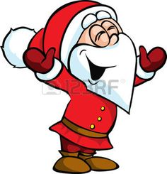Illustration von Santa Claus isoliert auf wei�em Hintergrund photo