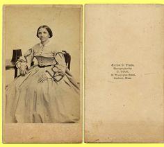 EXC Civil War Era 1860s CDV Roxbury MA Woman Brewster Stereoview ER | eBay