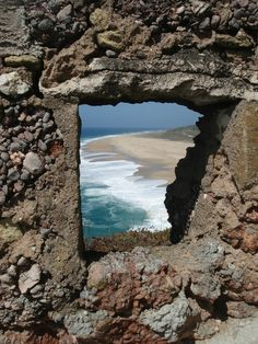 The View from the ruins Nazare, Portugal