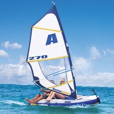 An Inflatable Windsurfer and Sailboat
