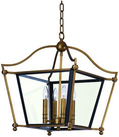 Maxim Lighting 22395CLNAB Ritz 4-Light Chandelier