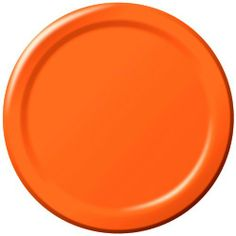 """Creative Converting 8.75"""" Diameter Round Paper Dinner Plates, Sunkissed Orange Color, 24-Count Packages (Pack of 5) by Creative Converting, http://www.amazon.com/dp/B002CGSNZE/ref=cm_sw_r_pi_dp_Scycrb1VWSJBJ"""