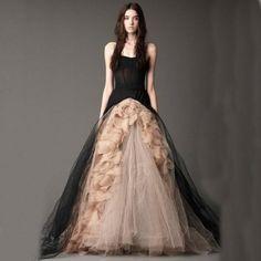 A Line Strapless Victorian Gothic Wedding Dress Ruffled Tulle Black Halloween Bridal Gowns Alternative Measures - Brides & Bridesmaids - Wedding, Bridal, Prom, Formal Gown - Alternative Measures -