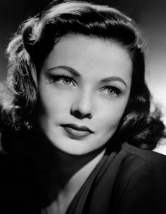 movie star Gene Tierney. I think my all time favorite movie that she starred in was The Ghost and Mrs Muir. And Laura was good too.