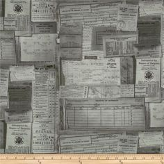 Tim Holtz Eclectic Elements Documentation Taupe from @fabricdotcom  Designed by Tim Holtz, this cotton print fabric is perfect for quilting, apparel, crafts, and home decor items. Colors include beige, cream, and brown on taupe.