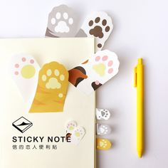 1 x cartoon Devil's-Claw memo pad cat paper sticker sticky note post it kawaii stationery papeleria school supplies