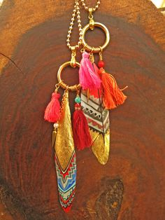 Handmade Feather necklace\ real feather\ gold plated\ long gold necklace\ tassel necklace\ statement jewelry\ one-of-a-kind necklace\ ethnic