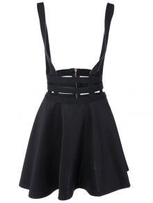 A Line Suspender Skirt