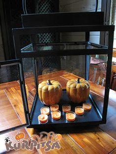 Halloween decoration outdoors & indoors - halloween koristeita sisällä ja pihalla + some Party Lite