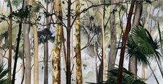 Australian artist Cressida Campbell (b. Sydney, Australia) is celebrated for her meticulous technique that combines both painting and printing. Bush Drawing, National Art School, France Art, Encaustic Art, Australian Artists, Art Portfolio, Conceptual Art, Gravure, Tree Art