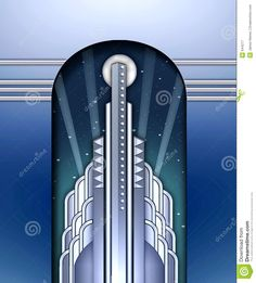 Art Deco Building W/spotlights - Download From Over 29 Million High Quality Stock Photos, Images, Vectors. Sign up for FREE today. Image: 644277