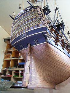 """ƒrƒNƒgƒŠ[(H.M.S.Victory) """"¿'D–ÍŒ^ »ì‰ß'ö Model Sailing Ships, Old Sailing Ships, Model Ships, Model Ship Building, Boat Building, Wooden Model Boats, Model Boat Plans, Hms Victory, Make A Boat"""