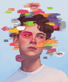 Discovered by 🌺𝙵𝚛𝚊𝚖𝚍𝚞𝚎𝚜𝚊🌺 ✔. Find images and videos about cute, pretty and boy on We Heart It - the app to get lost in what you love. Pretty Art, Cute Art, Art Sketches, Art Drawings, Illustration Art, Illustrations, Aesthetic Art, Art Sketchbook, Portrait Art
